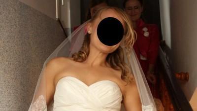 Elegancka suknia ślubna hiszpańskiej marki Pronovias Harlem rozm.36