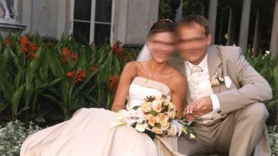 Elegancka suknia ślubna (komplet)