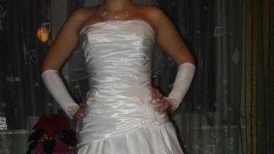 elegancka suknia ślubna, Sweetheart, model 8555