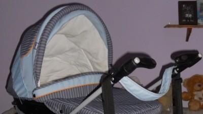 Fajny wózek 3w1 głęboki + spacerowy + fotelik samochodowy firmy CHICCO.