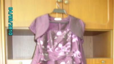 Fioletowa suknia idealna na wesela