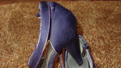 fioletowe szpilki