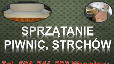 Firma sprzątająca,  tel 504-746-203, usługi porządkowe, Wrocław, utylizacja zbędnych rzeczy, wyposażenia, odpadów.  Posprzątanie przed sprzedażą mieszkania, domu. Sprzątanie po przeprowadzce, remoncie, wyprowadzce, eksmisji.