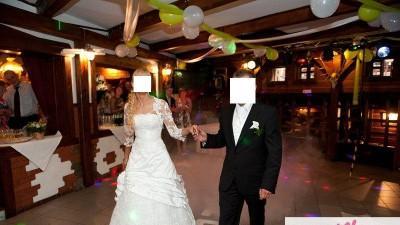 Firmowa suknia SPOSABELLA 117e biała roz.36/38