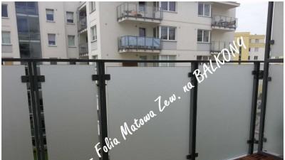 Folie na Balkony Warszawa- Oklejanie szyb balkonowych Folkos