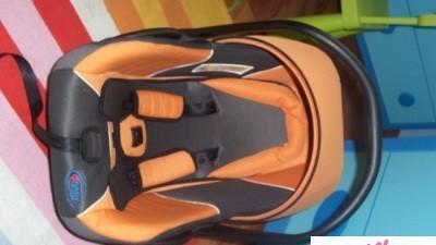 Fotelik 4 baby śliczny Sprzedam NAPRAWDĘ WARTO (POMARAŃCZOWO-CZARNY)