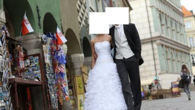 Frak ślubny, jaskółka, komplet