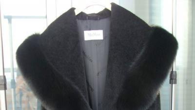 Futro-płaszcz damskie z lisa czarnego MaxMara Max Mara Royal Collection
