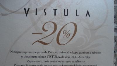 Garnitur  VISTULA 20% zniżki na terenie całego kraju