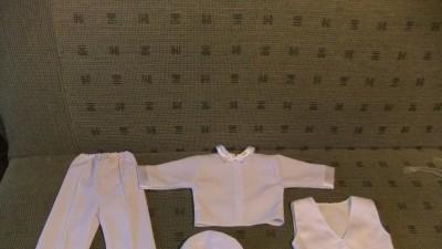 Garniturek do chrztu dla chłopca roz 74