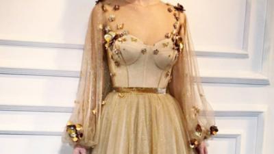 Gold Promise/ Złota Suknia Ślubna/Suknia Balowa/Suknia na Studniówkę