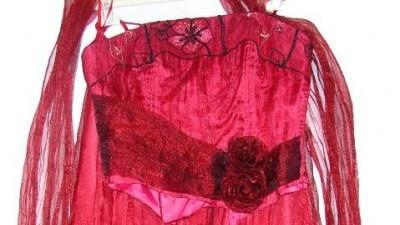 Gorset spódnica i szal bordowy kopmlet rozm 40