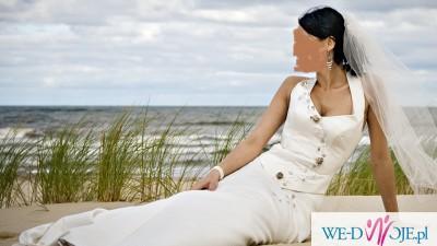 Gorsetowa suknia sluba ecry 36-38