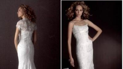 Hiszpańska suknia ślubna WHITE ONE model 242, rozmiar 36/38