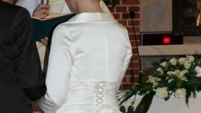 Jak nowa!! sukienka ślubna, 36-38, ecrie, bolerko+buty gratis!!!
