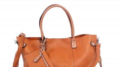 Kamelowa podwójna torebka
