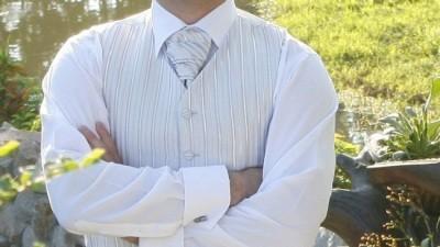kamizelka, koszula,spinki(Wólczanka)