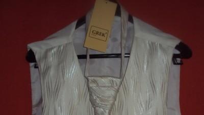 KAMIZELKA + krawat kaskadowy i butonierka