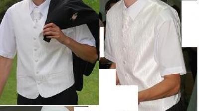kamizelka męska z krawatem