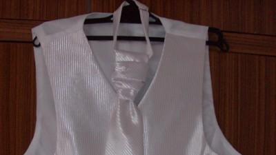 Kamizelka ślubna biała