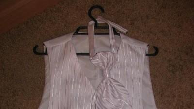 kamizelka ślubna, biała w srebrne hafty