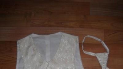 kamizelka ślubna i musznik ecru r.56