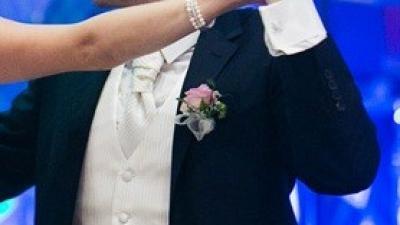 Kamizelka ślubna i musznik z butonierką - wzrost 175cm