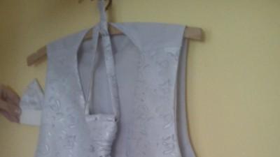 Kamizelka ślubna + krawat +butonierka