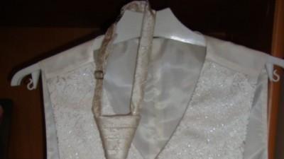 kamizelka ślubna, krawat i butonierka