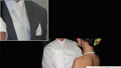 Kamizelka ślubna z dodatkami