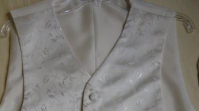 Kamizelka ślubna-zdobiona ecru