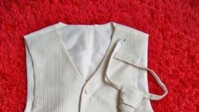 Kamizelka z krawatem Ślubna ecri