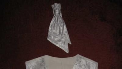 Kamizelka z musznikiem koloru srebrnego