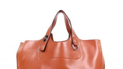 Karmelowa torba Oversize