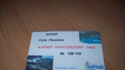 Karnet na krytą pływalnię w Szamotułach przy ulicy sportowej.