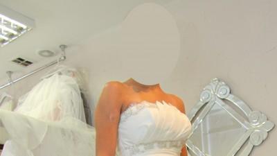 Klasyczna sukinia ślubna stan idealny