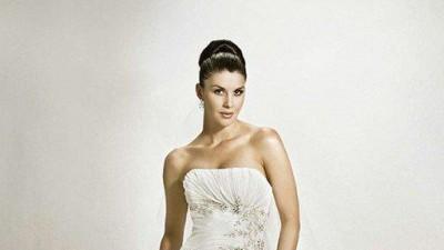 Klasyczna suknia AGNES wyjątkowa biała kryształki swarovski
