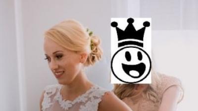 Klasyczna suknia ślubna dla wysokiej