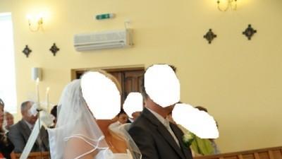 Klasyczna suknia ślubna z trenem