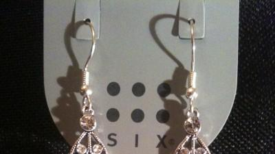KOLCZYKI SIX nowe, długie, ślubne z cyrkoniami NR 6