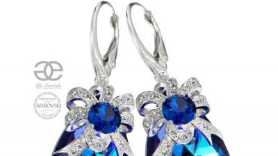 Kolczyki SWAROVSKI Crystals HELIO AURE Srebro Certyfikat