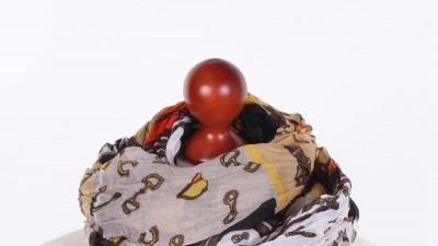 Kolorowa chusta Brązowa Podkowa