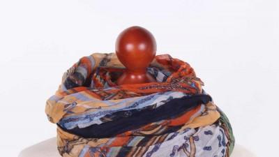 Kolorowa chusta Granatowa Podkowa