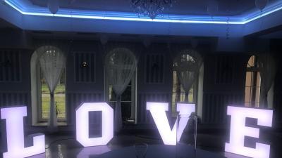 Kolorowe LOVE 3D podświetlane RGB 100 cm WYNAJEM, najem - LiteroweLovepl
