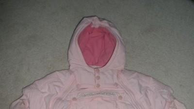 Kombinezon różowy niemowlęcy dla dziewczynki, rozmiar 68.
