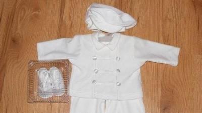 Komplecik dla chłopca  do chrztu
