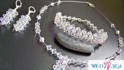 Komplet biżuterii ślubnej Swarovski NOWY