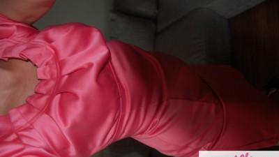 Koralowa sukienka 38