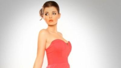 Koralowa sukienka z ogonem - NOWA