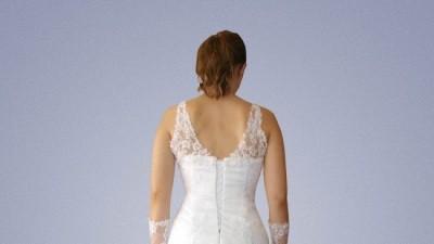 koronkowa biała i bardzo elegancka suknia slubna 36/38